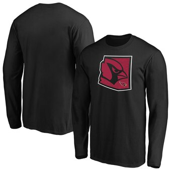 Arizona Cardinals Iconic State Pride Long Sleeve T-Shirt - Black