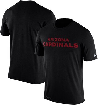 Arizona Cardinals Legend Wordmark Essential 3 Performance T-Shirt - Black