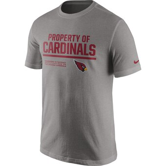 Arizona Cardinals Property Of T-Shirt - Heathered Gray