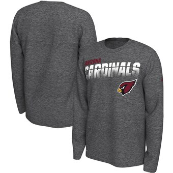 Arizona Cardinals Sideline Line of Scrimmage Legend Performance Long Sleeve T-Shirt - Gray
