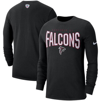 Atlanta Falcons Sideline Property Of Performance Long Sleeve T-Shirt - Black