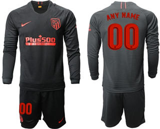 Atletico Madrid Personalized Away Long Sleeves Soccer Club Jersey