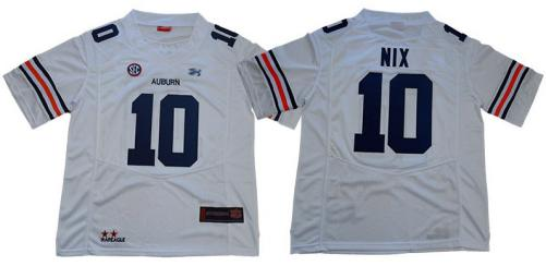Auburn Tigers #10 Bo Nix White Limited Stitched College Football Jersey