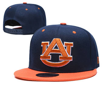 Auburn Tigers Team Logo Snapback Stitched Adjustable Hat GS 4