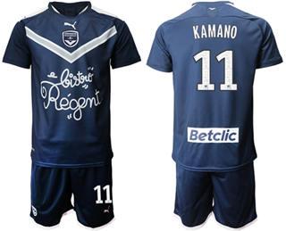 Bordeaux #11 Kamano Home Soccer Club Jersey