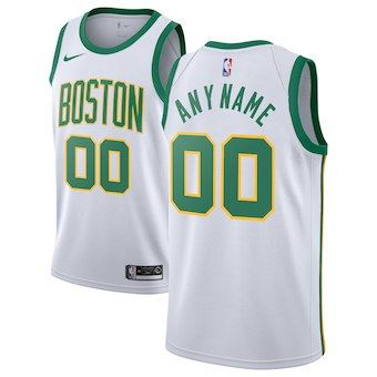Boston Celtics  2018-19 Swingman Custom Jersey - City Edition - White
