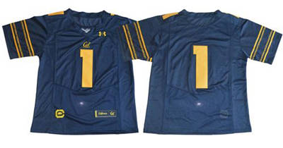 California Golden Bears #1 Navy Blue Under Armour Premier Stitched NCAA Jersey