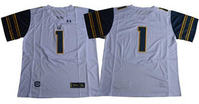 California Golden Bears #1 White Under Armour Premier Stitched NCAA Jersey