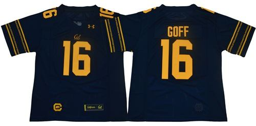 California Golden Bears #16 Jared Goff Navy Blue Under Armour Premier NCAA College Football Jersey