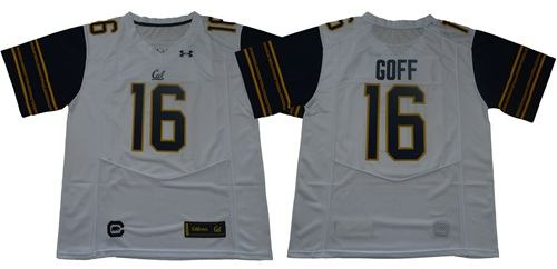 California Golden Bears #16 Jared Goff White Under Armour Premier NCAA College Football Jersey