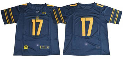 California Golden Bears #17 Navy Blue Under Armour Premier Stitched NCAA Jersey