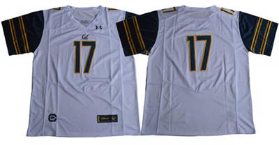 California Golden Bears #17 White Under Armour Premier Stitched NCAA Jersey