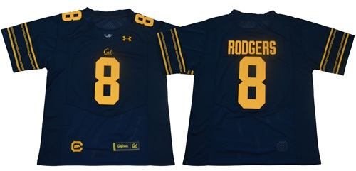 California Golden Bears #8 Aaron Rodgers Navy Blue Under Armour Premier NCAA College Football Jersey