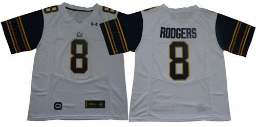 California Golden Bears #8 Aaron Rodgers White Under Armour Premier NCAA College Football Jersey