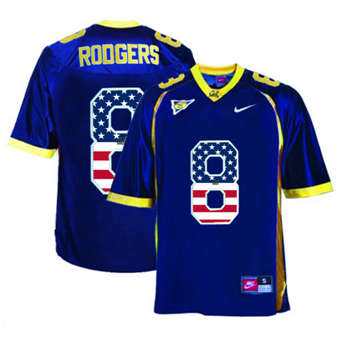California Golden Bears 8 Aaron Rodgers Navy USA Flag College Football Jersey