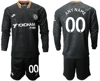 Chelsea Personalized Third Long Sleeves Soccer Club Jersey