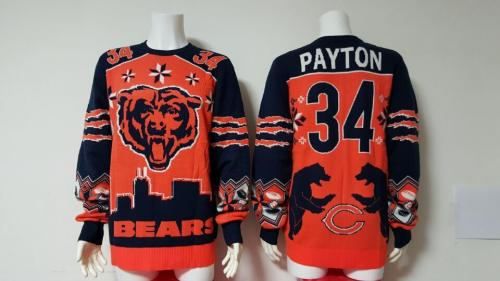 Chicago Bears #17 Walter Payton Football Ugly Sweater