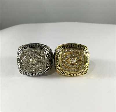 Chicago Bears World Champions Ring 2C Suits