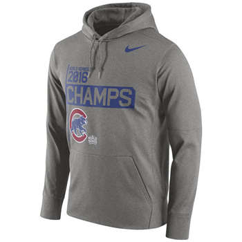 Chicago Cubs 2016 World Series Champions Celebration  Gray Performance Men's Hoodie