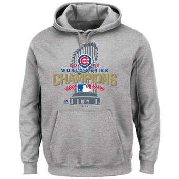 Chicago Cubs 2016 World Series Champions Heathered Gray Big & Tall Locker Room Men's Pullover Hoodie