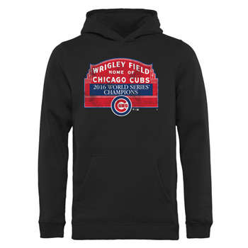 Chicago Cubs 2016 World Series Champions Men's Black Pullover Hoodie (3)