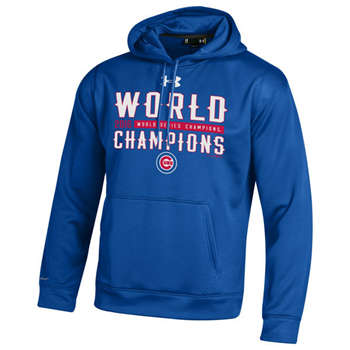 Chicago Cubs 2016 World Series Champions Men's Blue Pullover Hoodie (10)