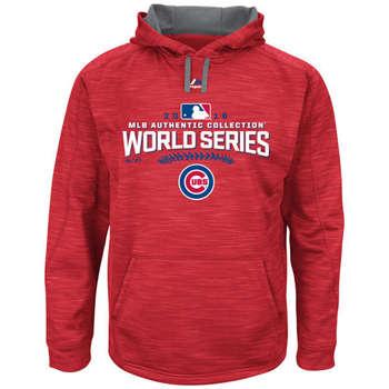Chicago Cubs 2016 World Series Champions Scarlet Locker Room Streak Fleece Men's Pullover Hoodie