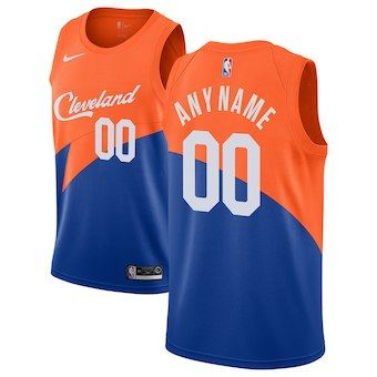 Cleveland Cavaliers  2018-19 Swingman Custom Jersey - City Edition - Blue
