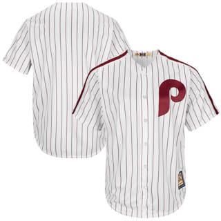 Custom Philadelphia Phillies White Cooperstown Cool base Jersey