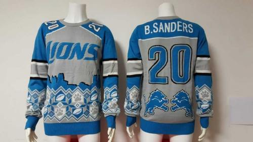 Detroit Lions #20 Barry Sanders Football Ugly Sweater
