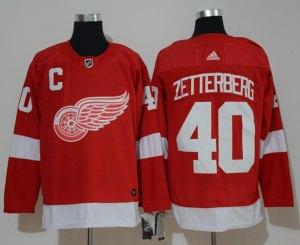 Detroit Red Wings 40 Henrik Zetterberg Red  Jersey