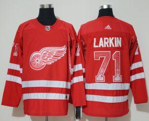 Detroit Red Wings 71 Dylan Larkin Red Drift Fashion  Jersey