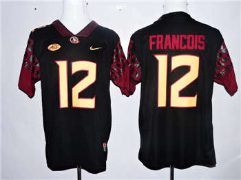 Florida State Seminoles #12 Deondre Francois Black College Football Jersey