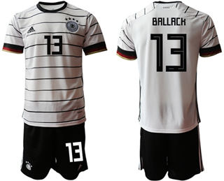 Germany #13 Ballack White Home Soccer Country Jersey