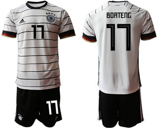 Germany #17 Boateng White Home Soccer Country Jersey