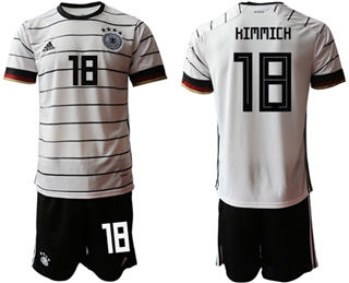 Germany #18 Kimmich White Home Soccer Country Jersey