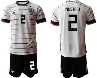 Germany #2 Mustafi White Home Soccer Country Jersey