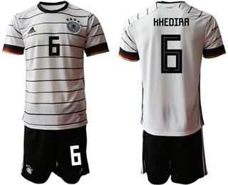 Germany #6 Khedira White Home Soccer Country Jersey