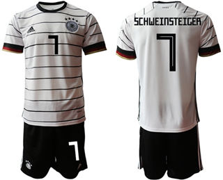 Germany #7 Schweinsteiger White Home Soccer Country Jersey