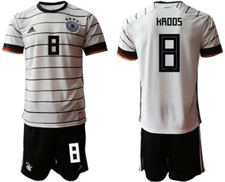 Germany #8 Kroos White Home Soccer Country Jersey