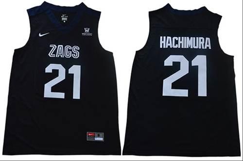 Gonzaga Bulldogs #21 Rui Hachimura Black Stitched College Jersey