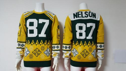 Green Bay Packers #87 Jordy Nelson Football Ugly Sweater