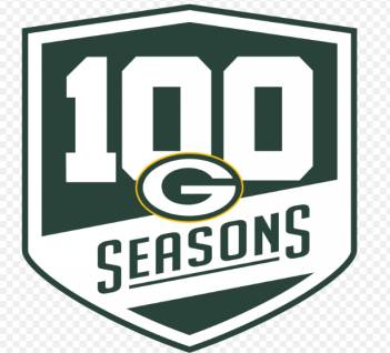 Green Bay Packers 100th Season Logo Patch