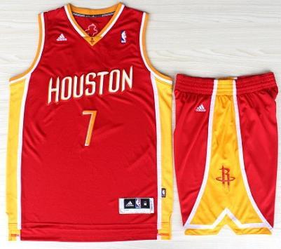 Houston Rockets 7 Jeremy Lin Red Throwback Revolution 30 Swingman Jerseys Shorts Basketball Suits