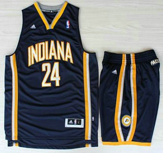 Indiana Pacers Jersey 24 Paul George Blue Revolution 30 Swingman Basketball Jerseys Shorts Suits