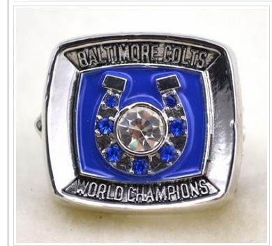 Indianapolis Colts Football World Champions Silver Ring
