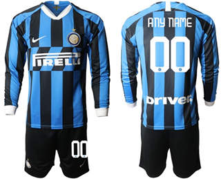 Inter Milan Personalized Home Long Sleeves Soccer Club Jersey