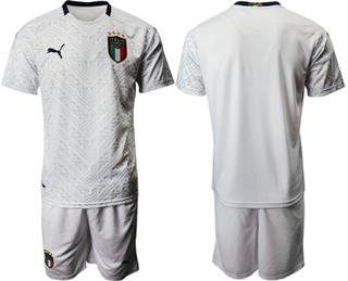 Italy Blank Away Soccer Country Jersey