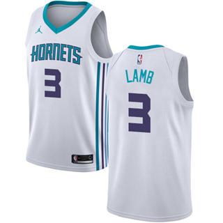 Jordan Brand Charlotte Hornets #3 Jeremy Lamb White Basketball Swingman Association Edition Jersey