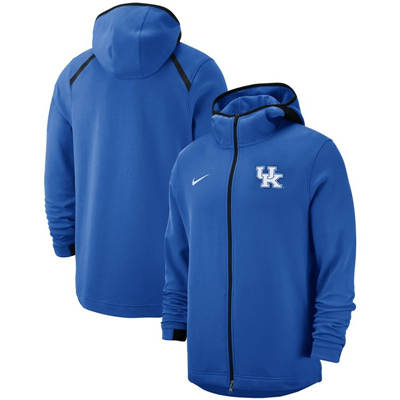 Kentucky Wildcats 2018-2019 On-Court Basketball Player Showtime Performance Full-Zip Hoodie – Royal
